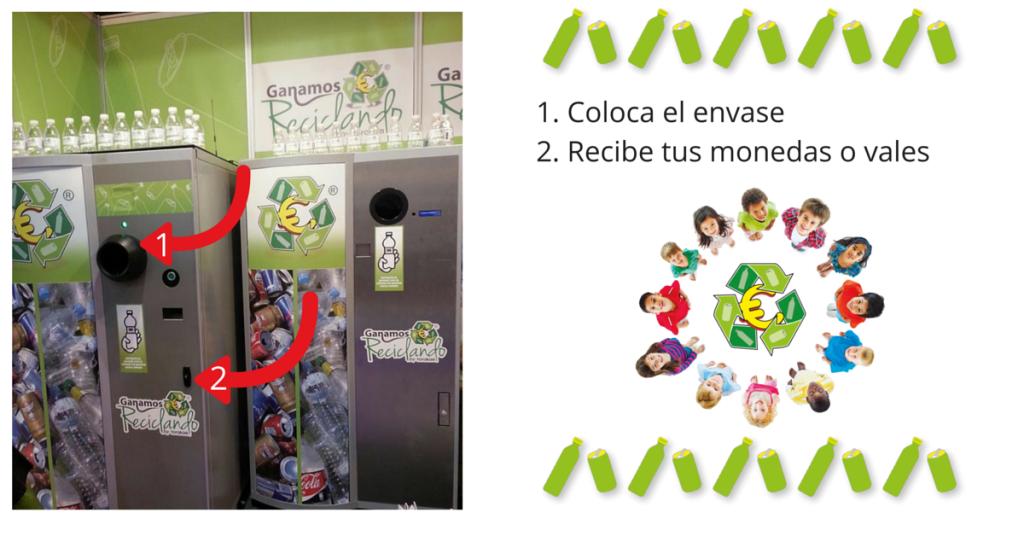 Máquinas de reciclaje con incentivos