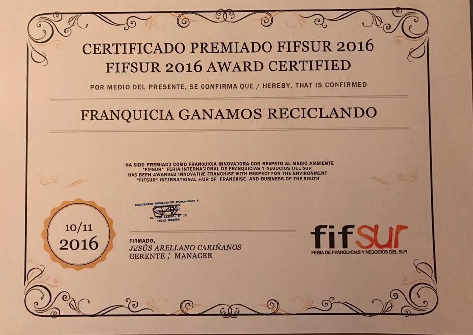 FifSur2016 premio a la innovación