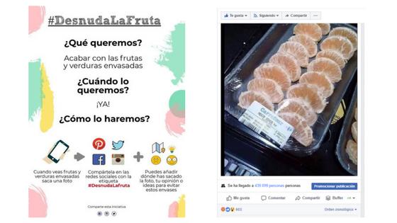 Desnuda la fruta una campaña que se hace viral